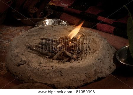 Hindu traditional wedding havan (fire)