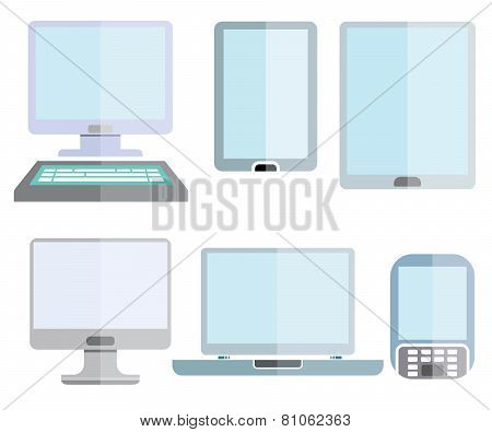 computer, smart device icons