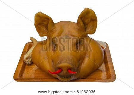 Pig Head Isolated