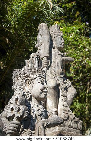 Statue Details Of Hindu Temple, Bali, Indonesia