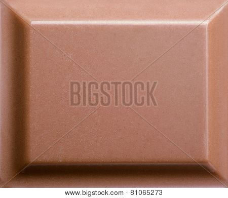 Top View Of Milk Chocolate Piece