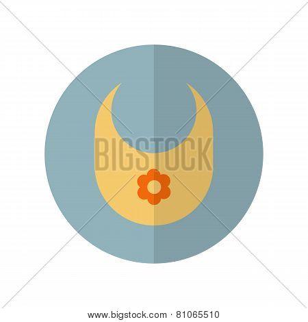 Flat Style Bib Icon