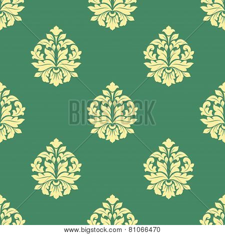 Seamless flourish pattern with dainty buds