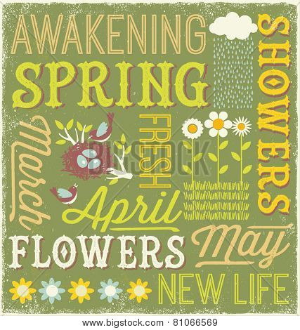 Spring typography design