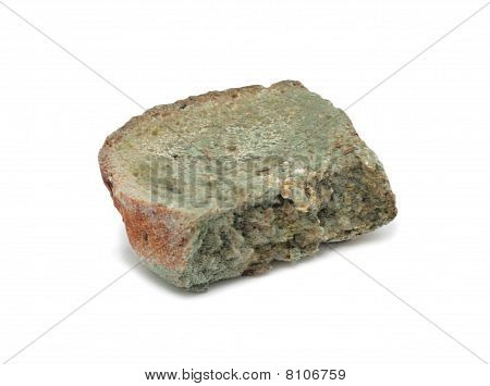 Slice Of Mouldy Bread, Isolated