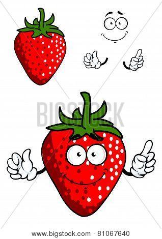 Cartoon fresh red strawberry