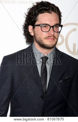 LOS ANGELES - JAN 24:  Kit Harrington at the Producers Guild of America Awards 2015 at a Century Plaza Hotel on January 24, 2015 in Century City, CA