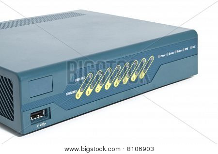 Front Of An Ethernet Firewall