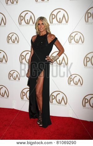 LOS ANGELES - JAN 24:  Tiziana Rocca at the Producers Guild of America Awards 2015 at a Century Plaza Hotel on January 24, 2015 in Century City, CA