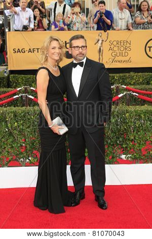 LOS ANGELES - JAN 25:  Steve Carell at the 2015 Screen Actor Guild Awards at the Shrine Auditorium on January 25, 2015 in Los Angeles, CA