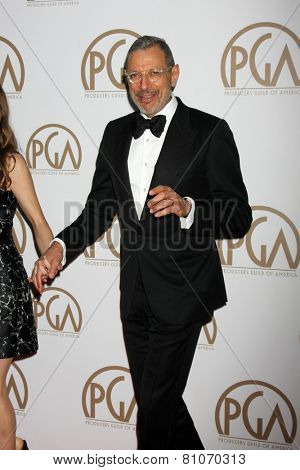 LOS ANGELES - JAN 24:  Jeff Goldblum at the Producers Guild of America Awards 2015 at a Century Plaza Hotel on January 24, 2015 in Century City, CA