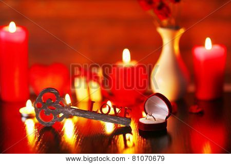 Burning candles for Valentine Day, weddings,events involving love