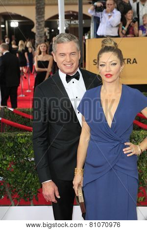 LOS ANGELES - JAN 25:  Eric Dane, Rebecca Gayheart at the 2015 Screen Actor Guild Awards at the Shrine Auditorium on January 25, 2015 in Los Angeles, CA