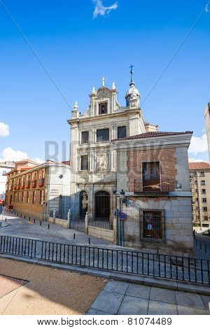 The Church Of Sacramento (iglesia Del Sacramento) On A Sunny Spring Day In Madrid