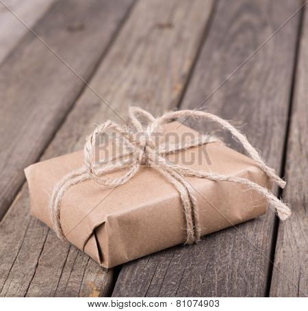 Brown Wrapped Package