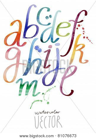 Watercolor ABC