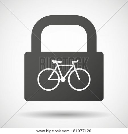 Lock Icon With A Bicycle