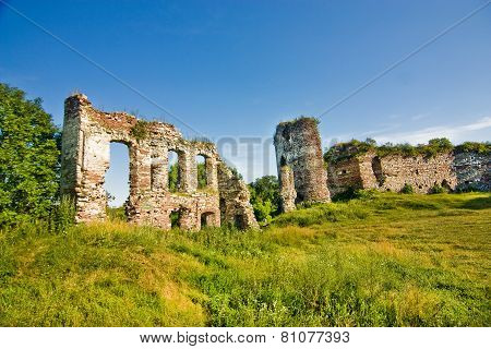 Medieval Ruins Of Castle In Buchach
