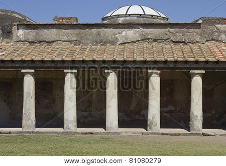 Stabian Thermal Baths Complex In The Famous Ancient Roman Town