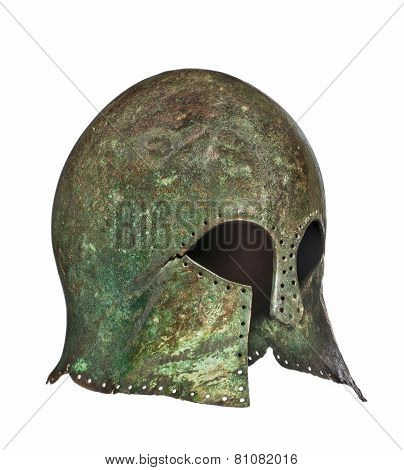 Early Rare Original Antique Vintage Grecian Helmet