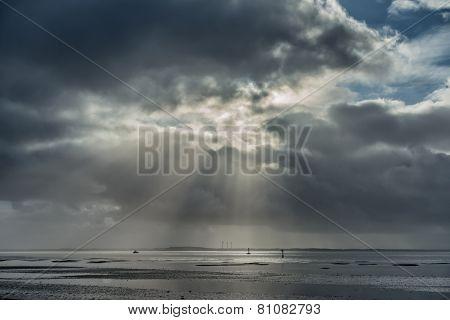 Wadden Sea Near Esbjerg, Denmark
