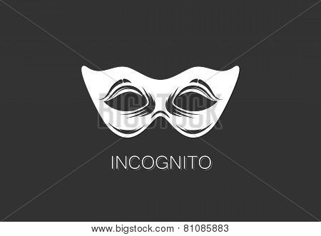 vector illustration of carnival mask icon. anonymous person concept. logo template design
