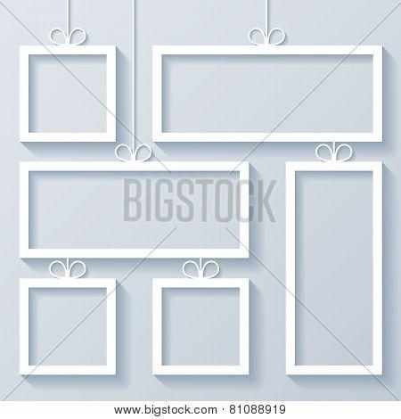 Group of White Frames