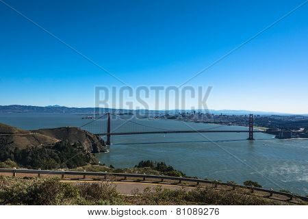 View of the bay of San Francisco from Headlands