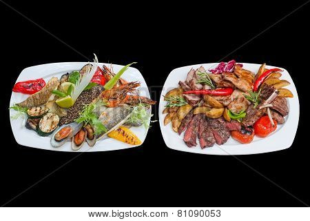Mixed Grill (assorted Fish And Meat Platter)