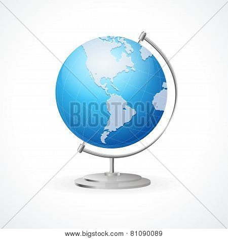 Vector school Globe isolated on white