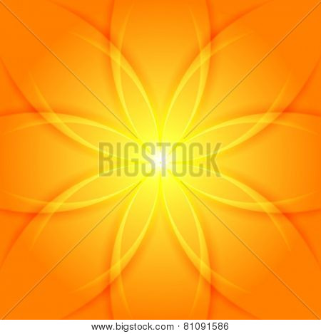Abstract yellow flower vector background
