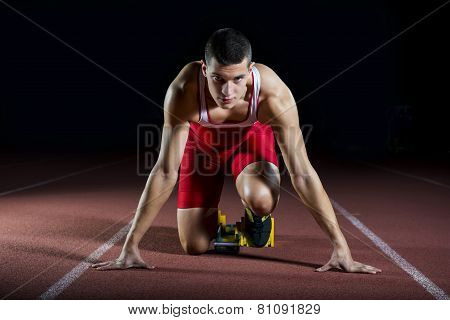 Athlete On The Starting Block