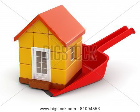 Dustpan and House (clipping path included)