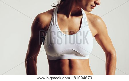 Fit Woman In Sports Bra