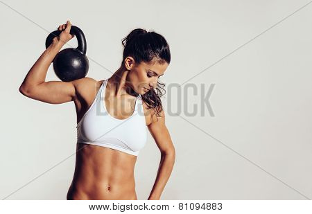 Attractive Young With Doing Workout