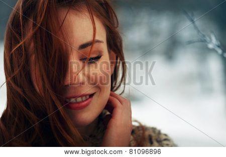 Beautiful Woman Thinking At Her Boyfriend