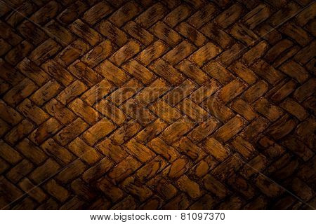 Brown Basket Weave Pattern