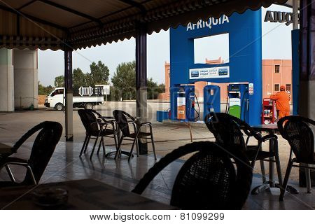 Roadside cafe in African petrol stations