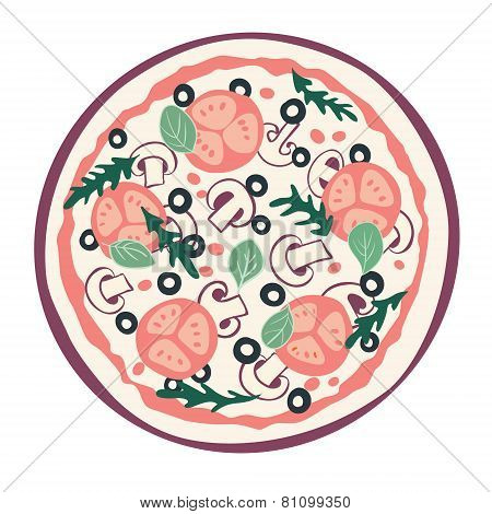 Stylized pizza
