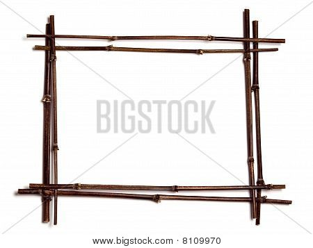 Black Bamboo Frame with copy space