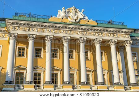 Facade Of Lion Palace In St. Petersburg