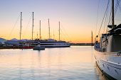 stock photo of zea  - Yachts in Zea Marina in Athens, Greece.