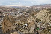 foto of goreme  - Top view on the town Goreme in Cappadocia Turkey - JPG