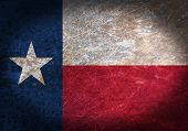 pic of texans  - Old rusty metal sign with a flag  - JPG