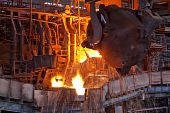 image of blast-furnace  - Working open - JPG