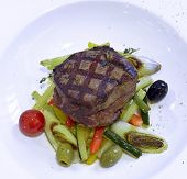 picture of rib eye steak  - Grilled rib - JPG