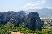 image of meteors  - Greece Meteors rocks in the valley of Thessaly - JPG