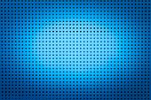 picture of metal grate  - Blue metal hole sheet texture closeup background - JPG