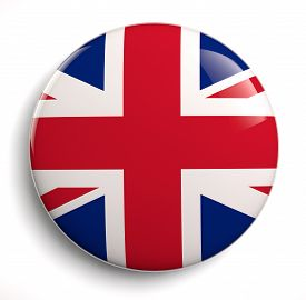 stock photo of lapel  - British flag icon - JPG