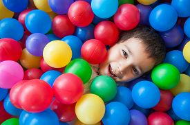 pic of playground school  - Happy kid playing in playground - JPG